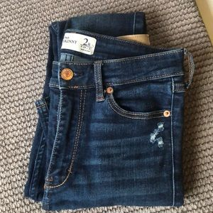 Distressed high rise skinny jeans, Abercrombie